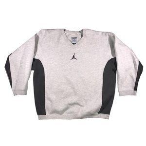 Vintage air Jordan v neck sweater